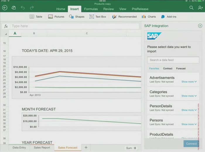 how to use excel on ipad
