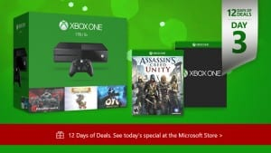 Today's 12 Days of Deals Promotion: 2 Free Games with Purchase of Select Xbox One Consoles