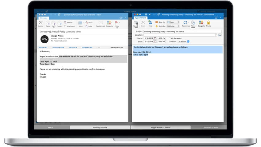 Outlook for Mac Updated to Support Full Screen View and