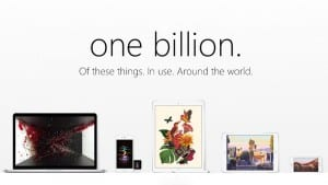 Apple's Active Installed Base in Now Over 1 Billion Strong