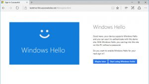 Coming in the Anniversary Update: Windows Hello Support in Microsoft Edge