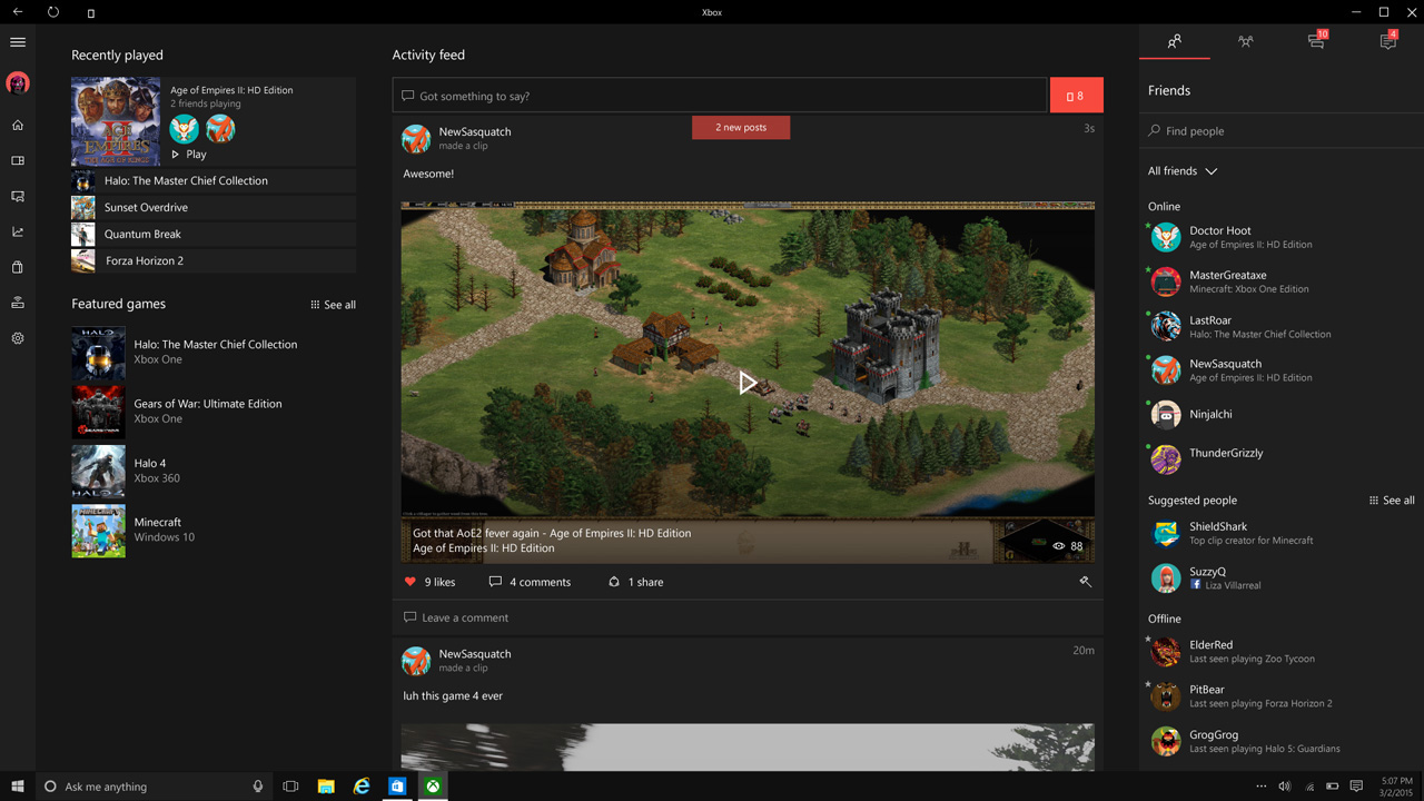 Major Changes Coming to Xbox App to Make Windows 10 More