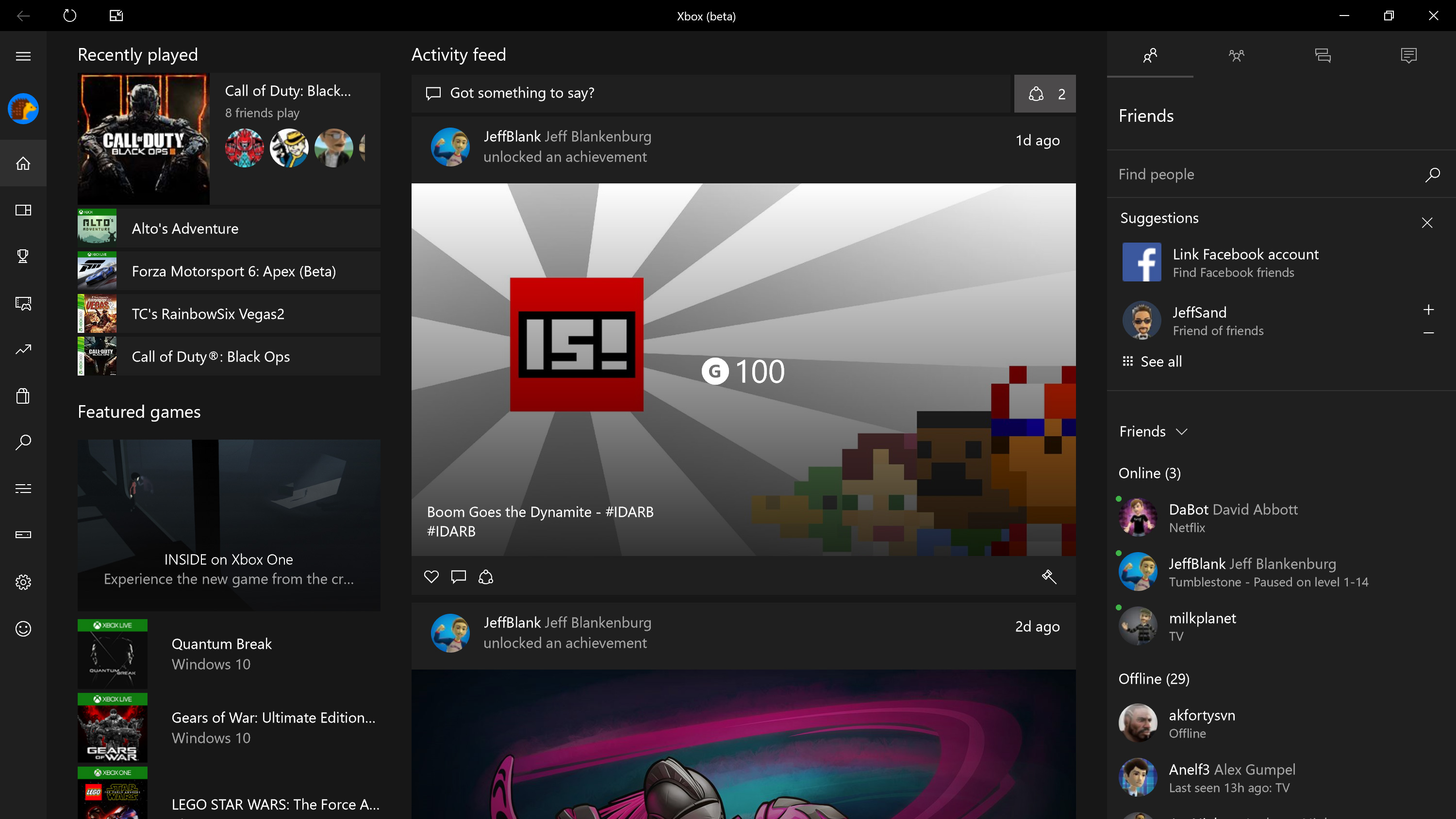 Xbox (Beta) App for Windows 10 Gets Twitter Sharing, More in New