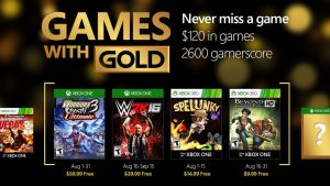 Games with Gold: August 2016