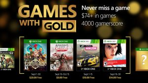 Games with Gold: September 2016