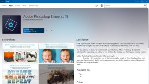 Adobe Photoshop Elements is Now Available in the Windows Store