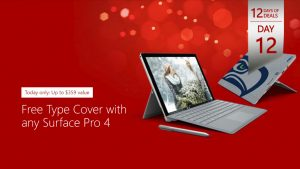 12 Days of Deals Winds Down with Surface Pro 4 Sale