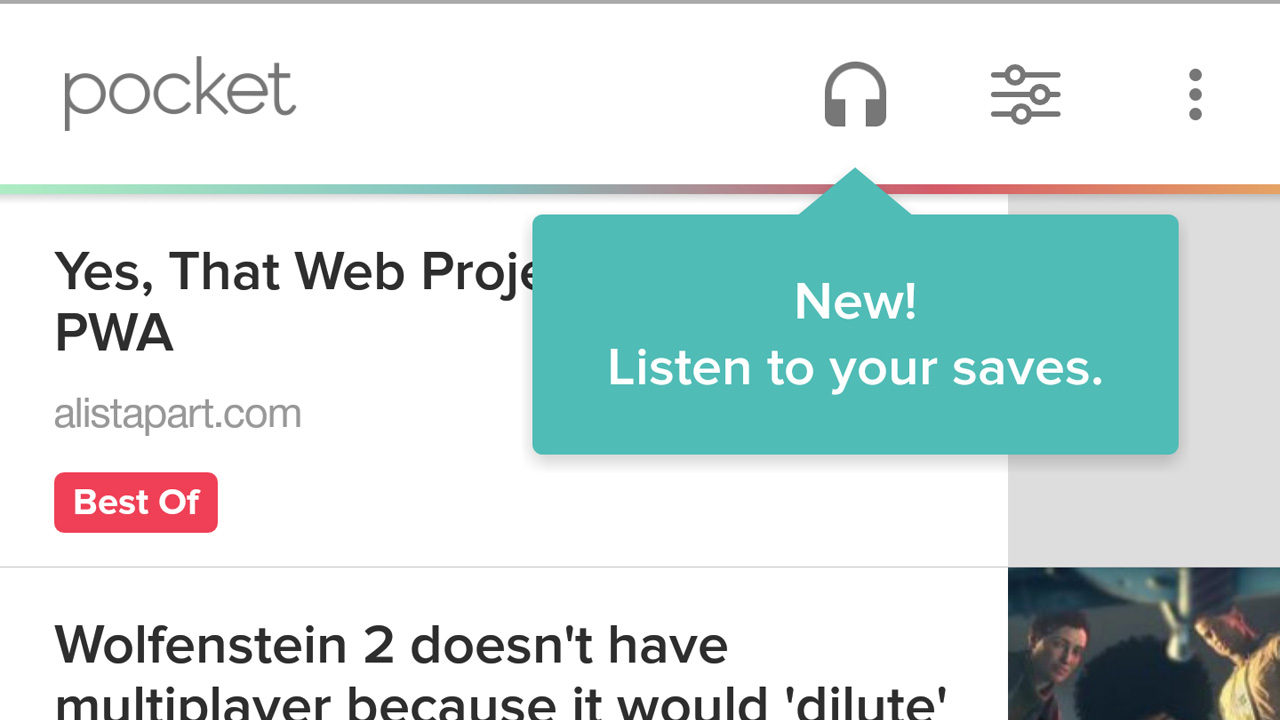 Pocket for Android Picks Up Continuous Read Aloud