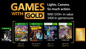 Race Into the Holiday Season with Games with Gold