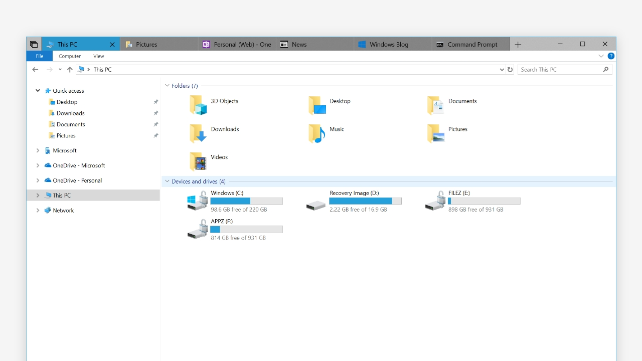 Windows 10's File Explorer Is Finally Getting Support for Tabs