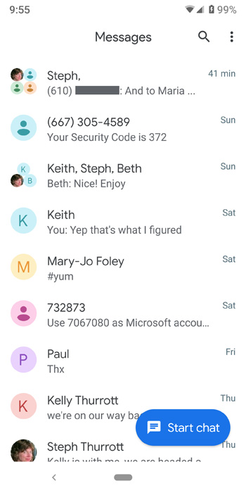 Android Messages Gets a Material Design Refresh Overhaul