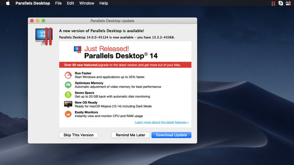 Parallels Desktop 14 for Mac Launches with Mojave Support - Thurrott com