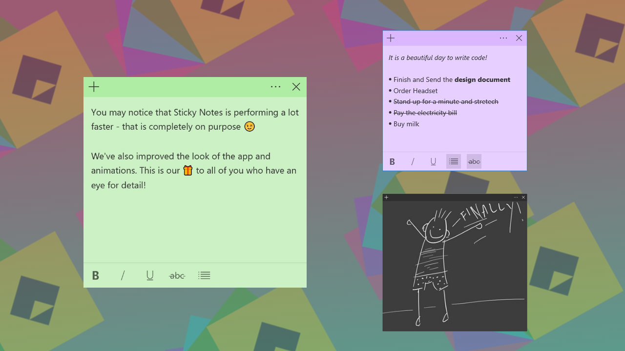 Sticky Notes Coming to Mobile Alongside Major Windows 10