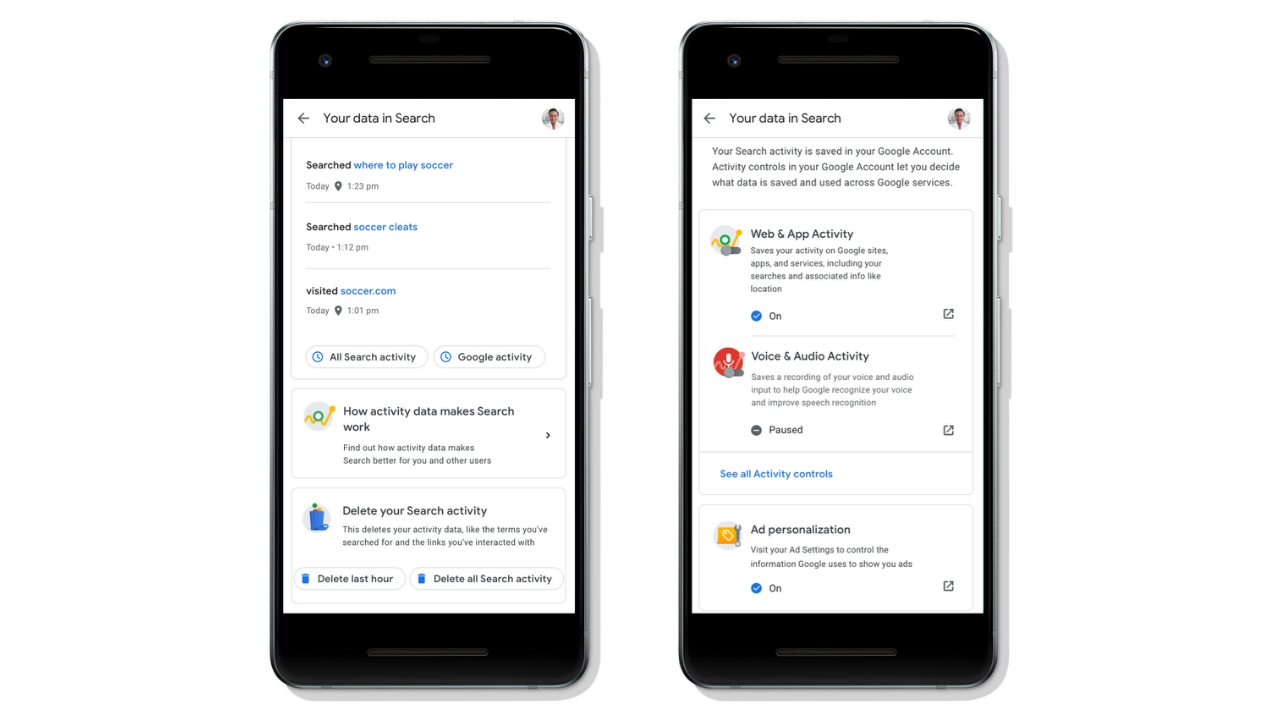 Google Search gets more personal data control