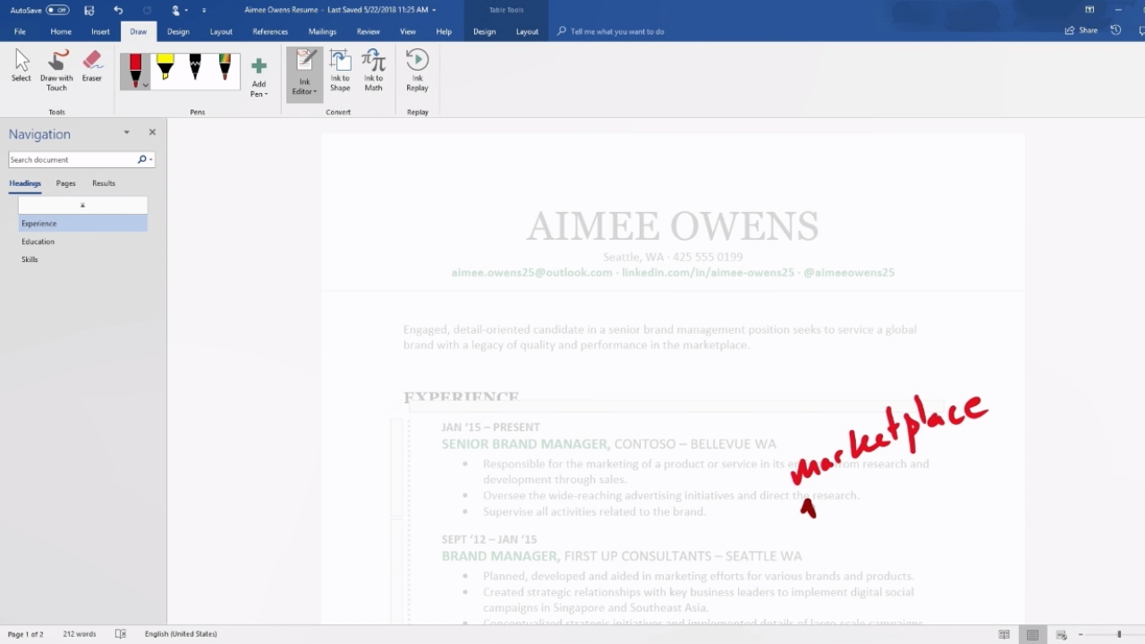 Microsoft Word and PowerPoint's Inking Capabilities Are Getting Smarter