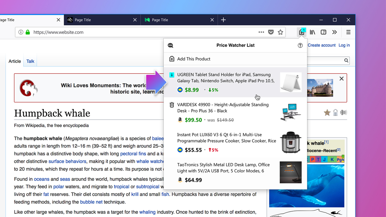 Firefox Experiments With New Built-In Price Tracking Experience