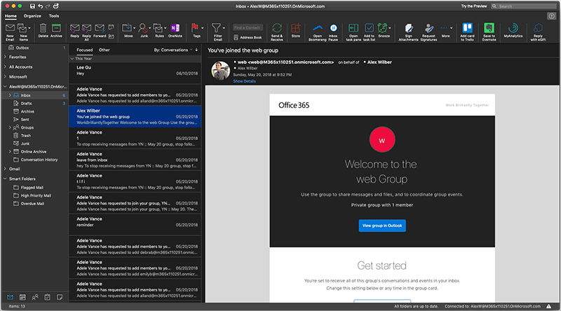 Microsoft Tests Revamped Outlook Design With Dark Theme Support on