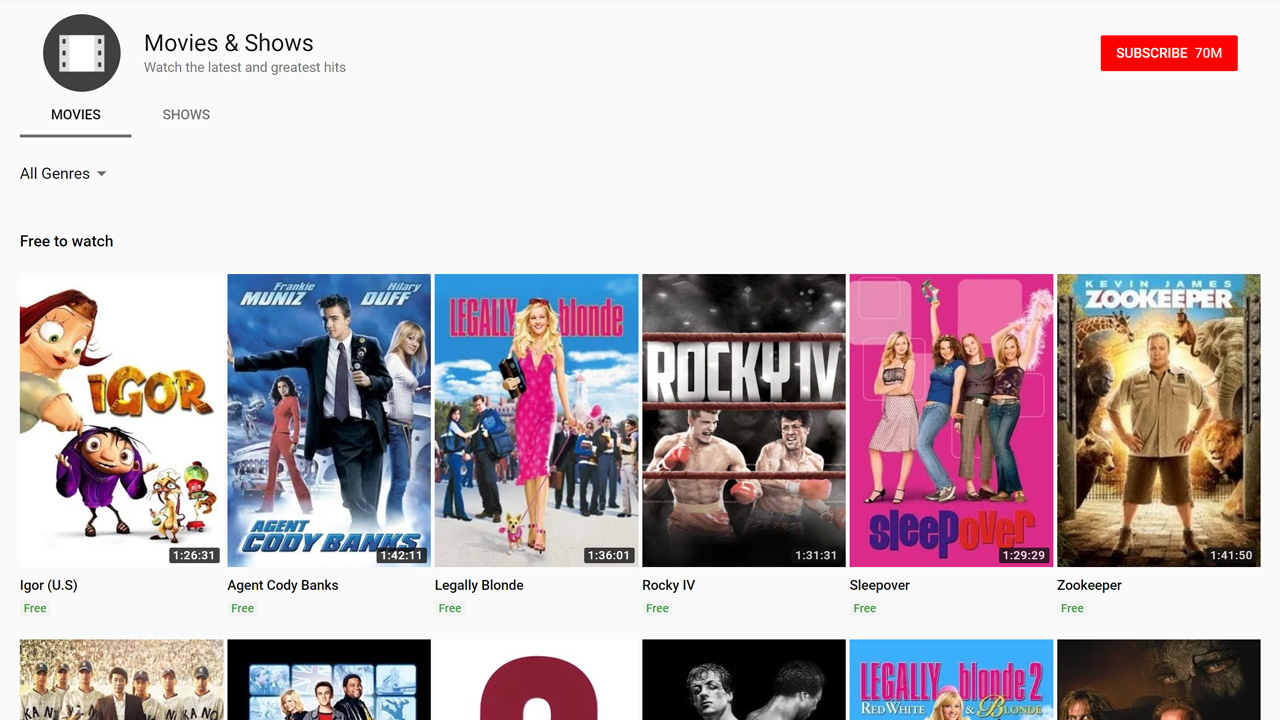 Tip: Watch Free (Ad-Supported) Movies on YouTube