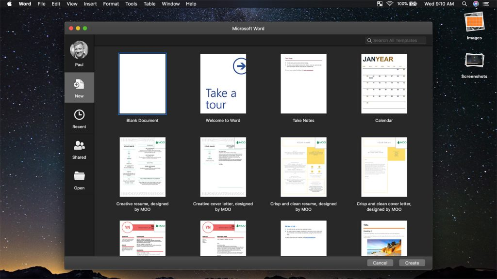 Microsoft Brings Dark Mode to Office for Mac - Thurrott com