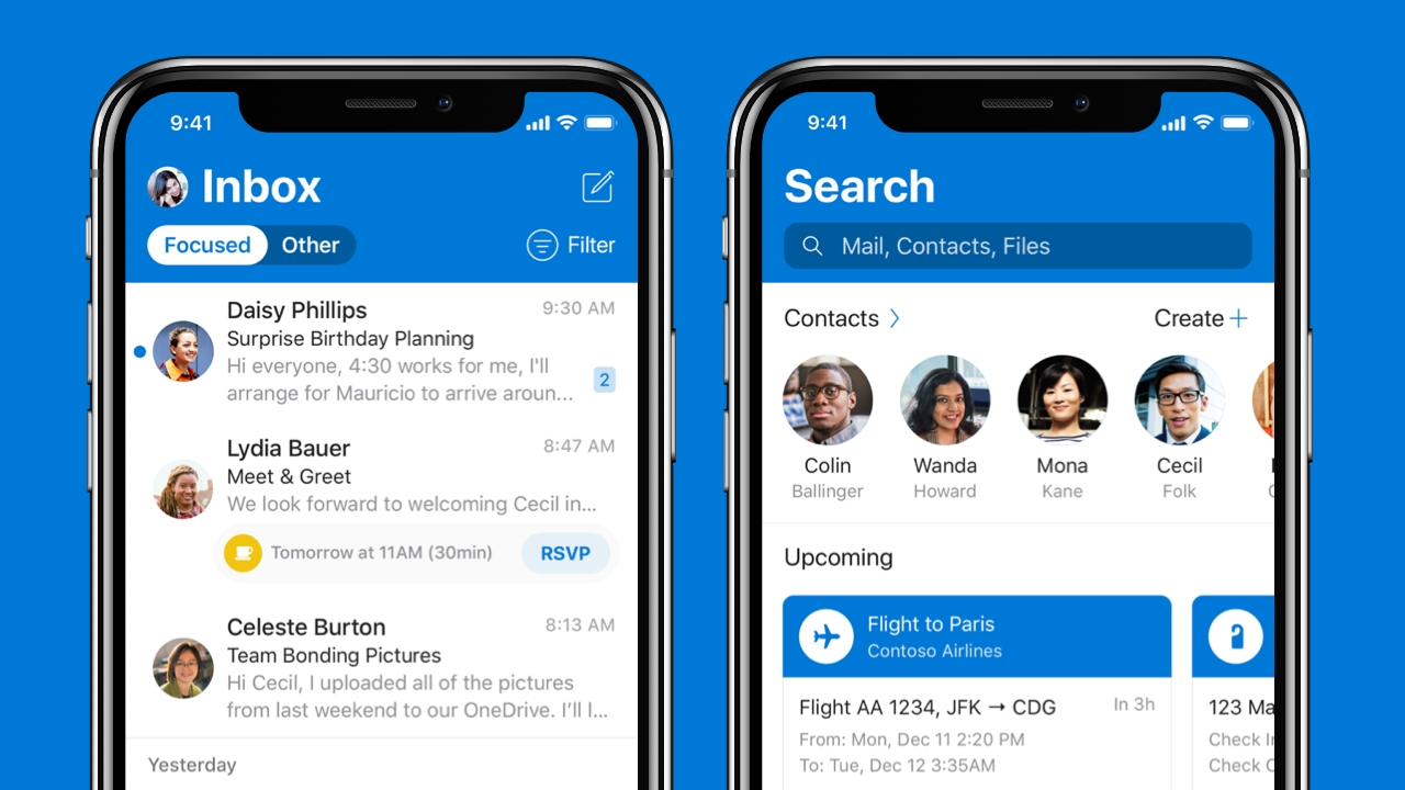 Outlook for iOS Gets Revamped Design - Thurrott com
