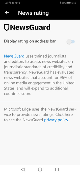 Hands-On with Microsoft Edge's Fake News Warning - Thurrott com