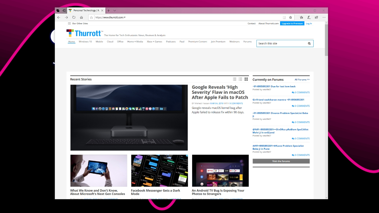 Microsoft's New Chromium-based Edge Browser Revealed in Leaked Screenshots