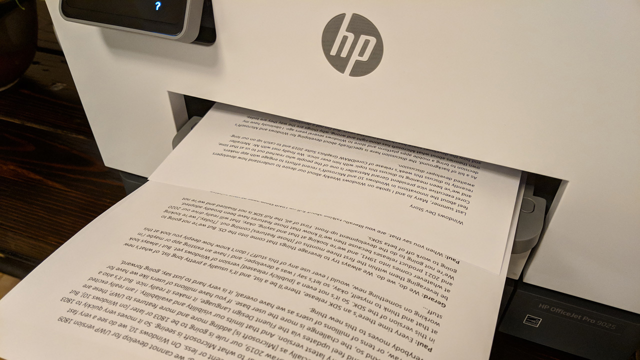 HP OfficeJet Pro 9025 First Impressions - Thurrott com