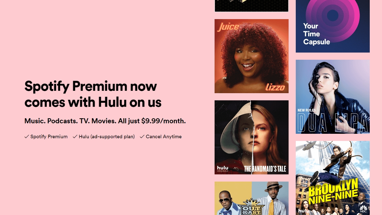 The best streaming deal just got better: Spotify and Hulu for $9.99 a month