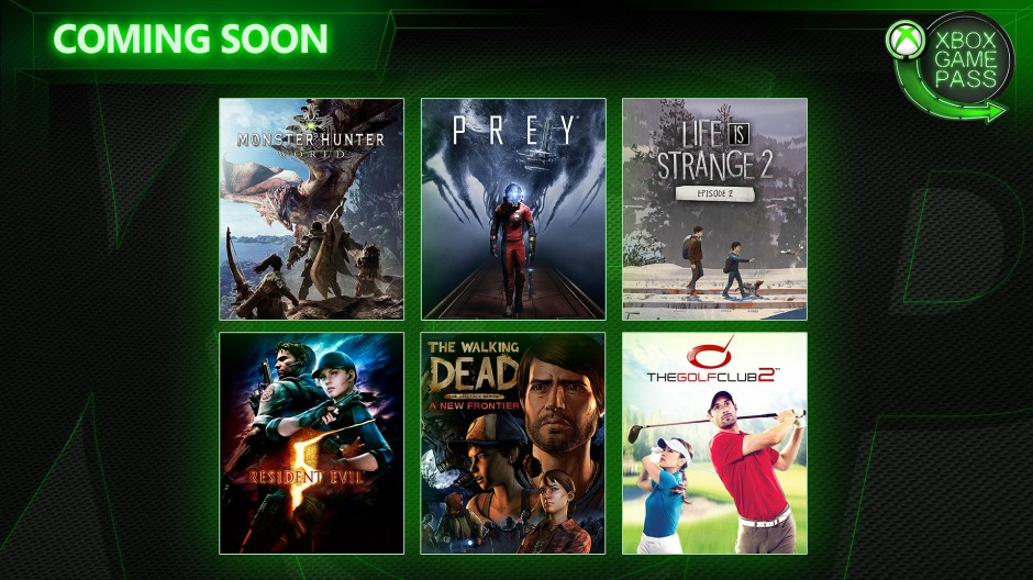 Xbox Game Pass April Lineup Features Prey, Monster Hunter World