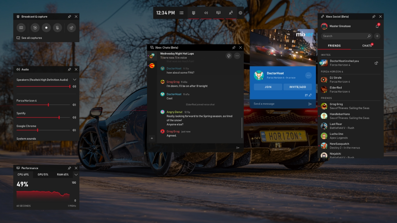 Microsoft Supercharges Windows 10's Game Bar With Spotify, Chat