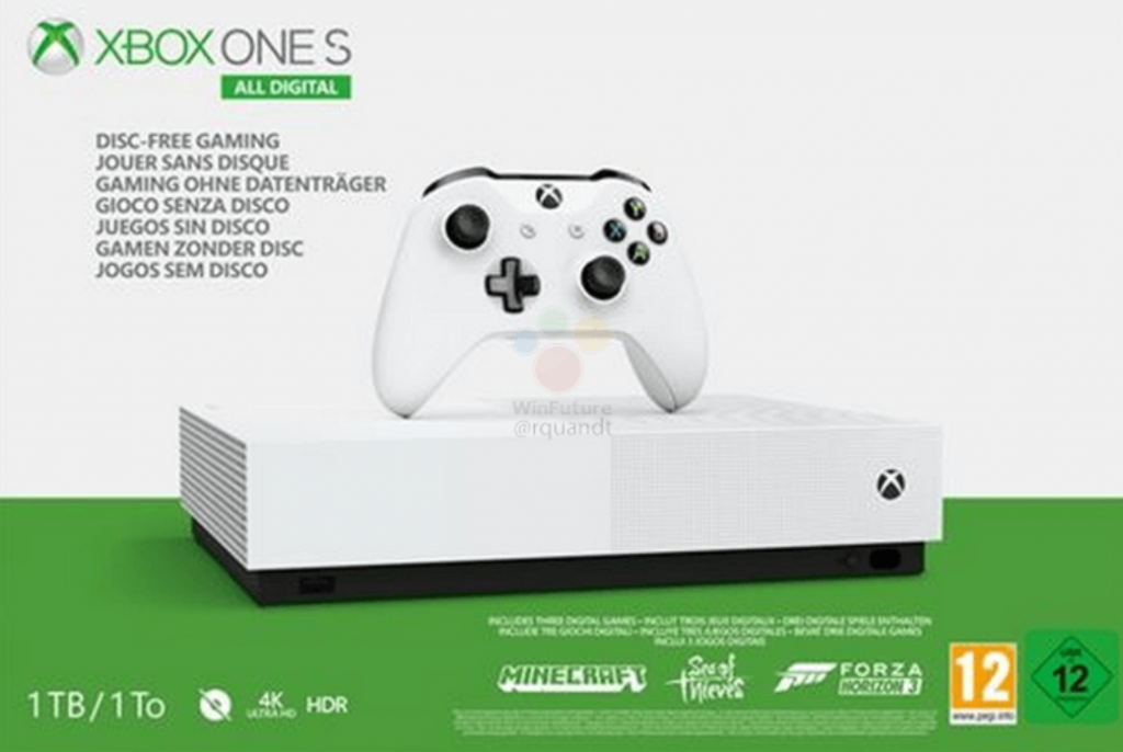 Disc-Free Xbox One S Details Leaked