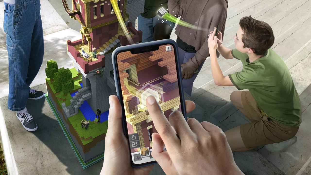'Minecraft Earth' puts a 'Pokémon Go' spin on the blocky building game