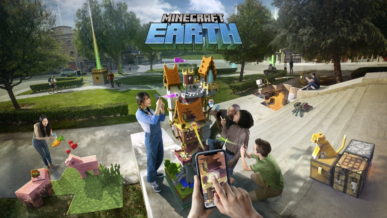 'Minecraft Earth' brings block-building to the real world like 'Pokemon Go'