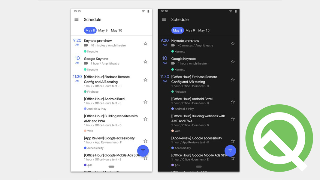 three new features included in the most current version of android