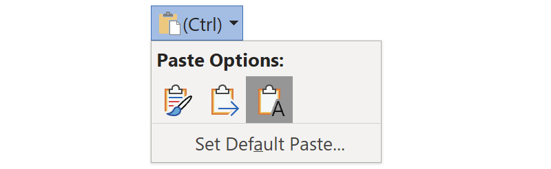 Tip: Configure Paste Options in OneNote for Windows 10