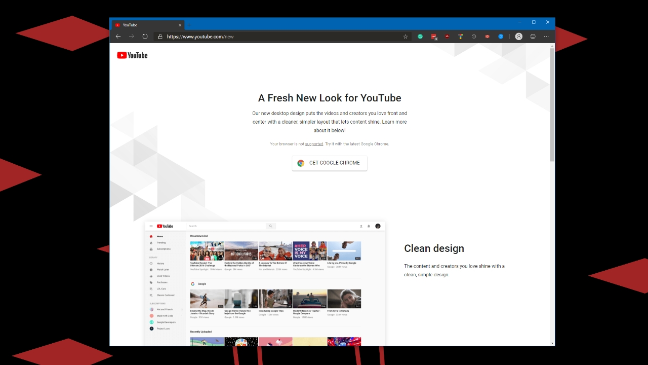 Google Now Forces Microsoft Edge Preview Users to Use Chrome for the
