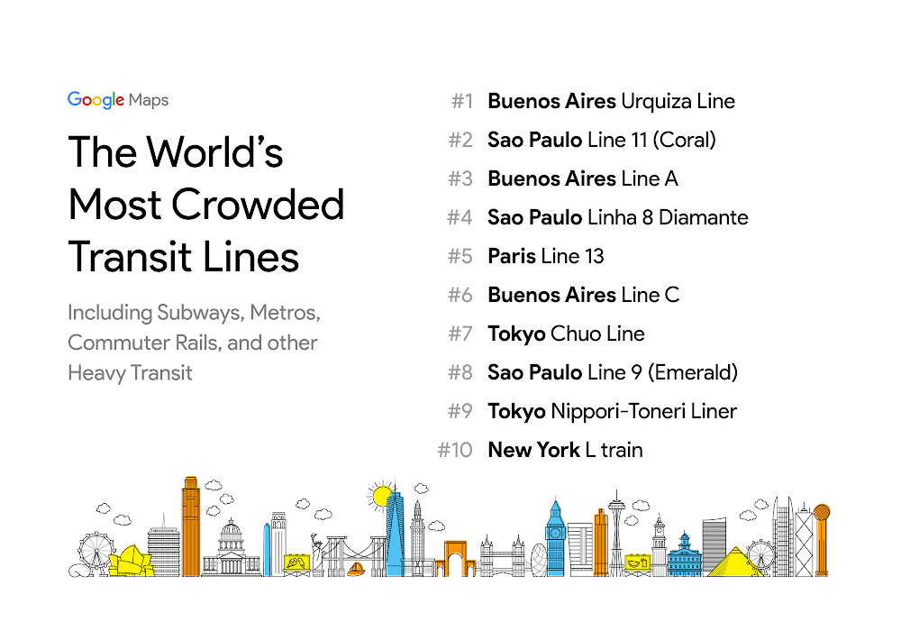 Google Maps Can Now Tell You How Crowded Your Train or Bus Might Be