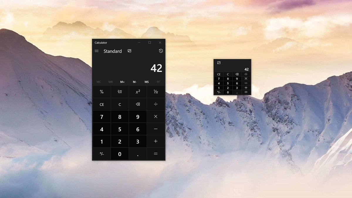 Windows Calculator Getting New Mini and Always-On-Top Modes