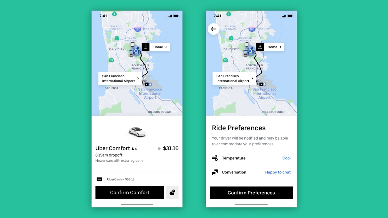 Uber Launches New Comfort Option That Allows You to Get a