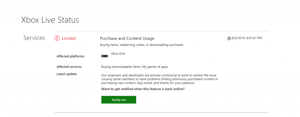 Xbox Live Outage Blocks You From Playing Your Digital Games