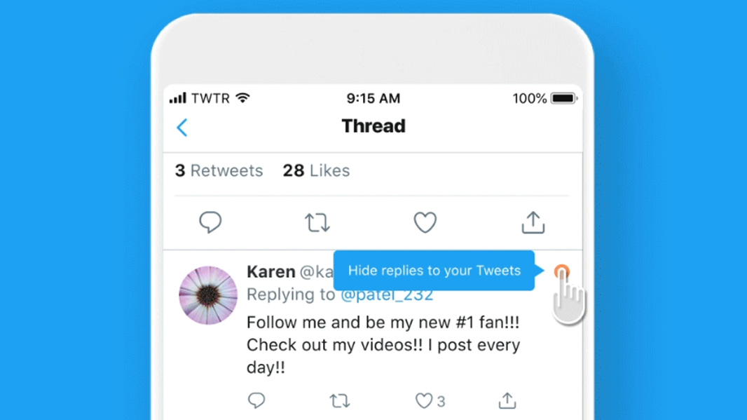 Twitter Tests Letting Users Hide Replies to Their Tweets