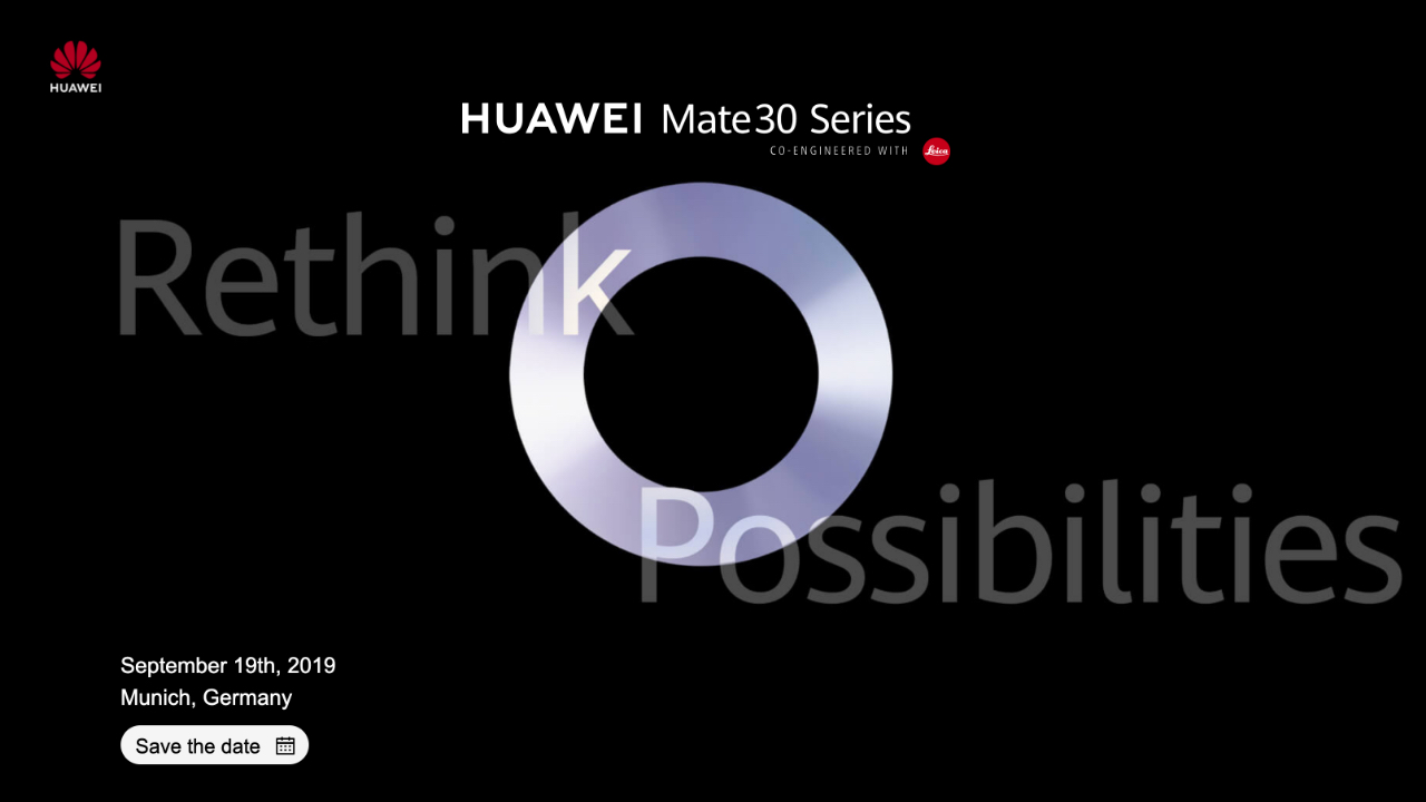 Huawei confirms: Mate 30 to launch on 19 September in Munich