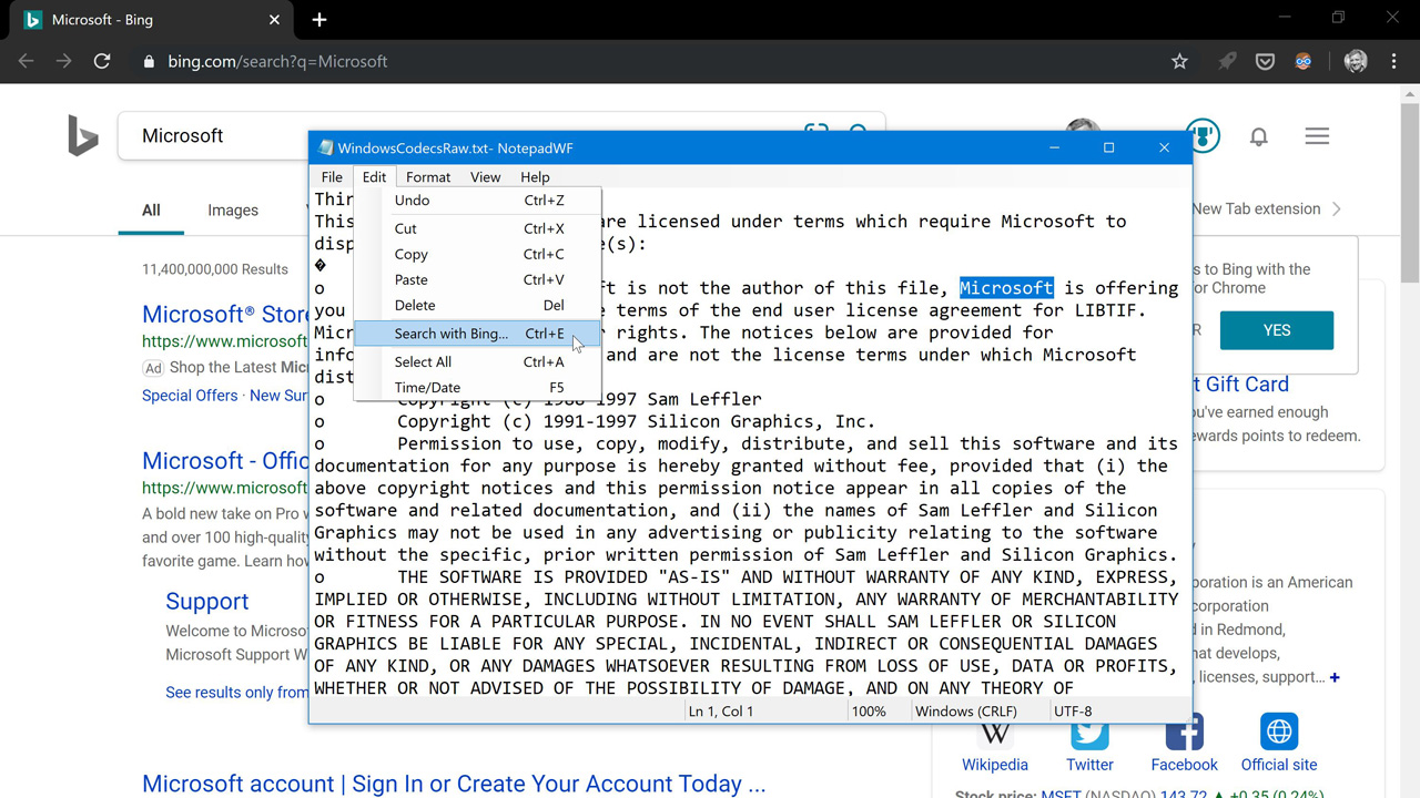 The Winforms Notepad Project Fixing Zoom And Edit Commands Premium Thurrott Com