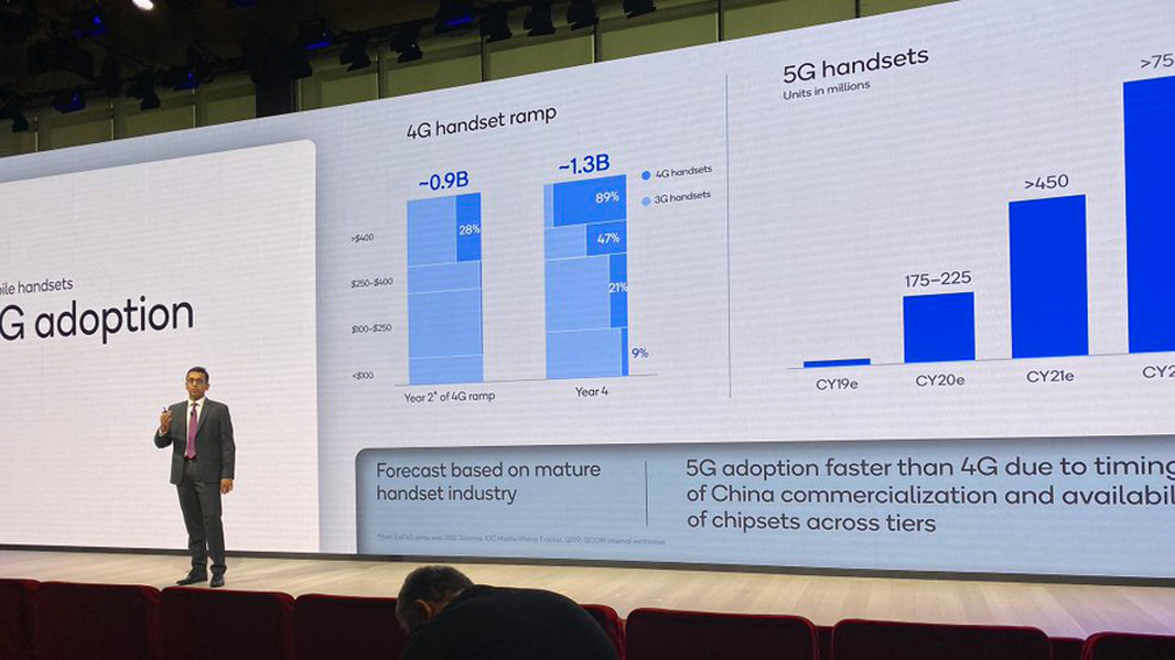 Qualcomm forecasts 450 million in global 5G phone sales in 2021
