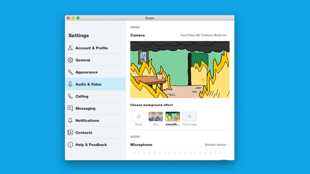 Skype copies Zoom and adds custom virtual backgrounds to its Mac app