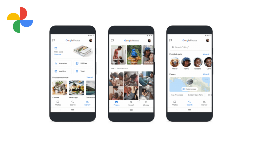 Google Photos redesign adds a map view and introduces a new logo