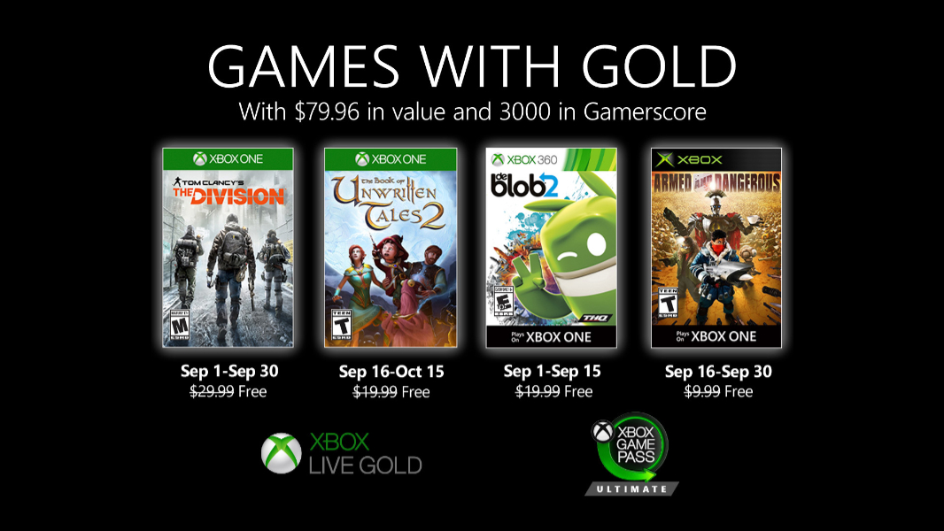 Tom Clancy's The Division highlights new Games with Gold for September
