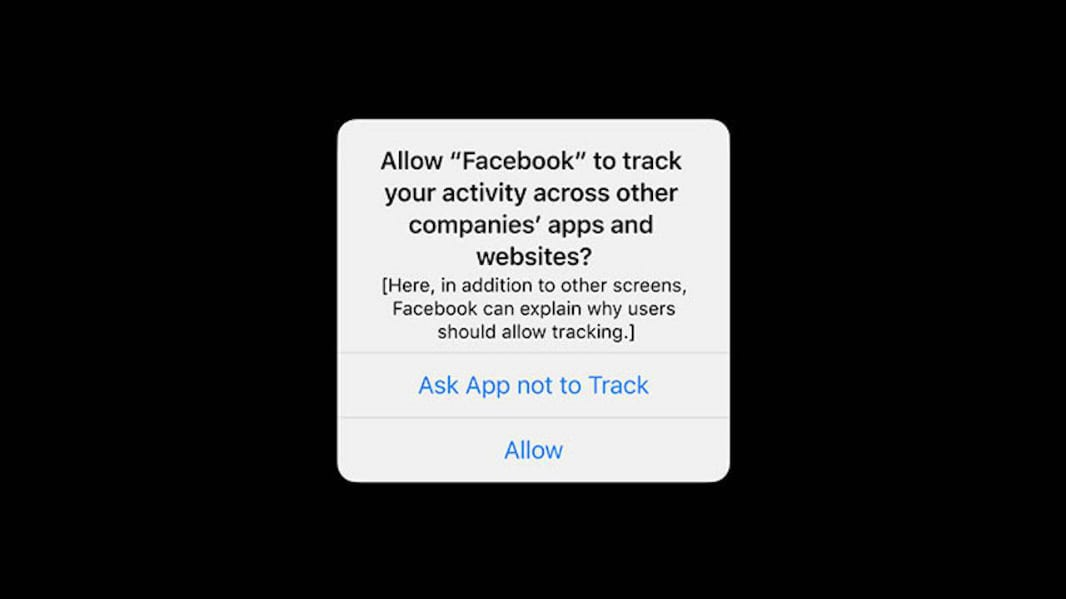 The iOS privacy query is starting to be introduced